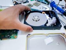 Электроника человека фиксируя стоковое изображение rf