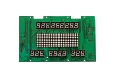 Электронная доска с шаблоном для показа номеров Стоковое фото RF