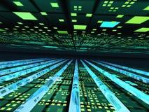 электронная перспектива горизонта решетки Стоковая Фотография