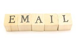 электронная почта блоков стоковая фотография