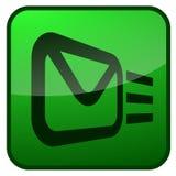 электронная почта кнопки Стоковое Изображение