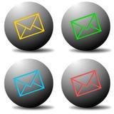 электронная почта кнопок Стоковое Изображение