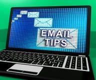 Электронная почта наклоняет онлайн почтовый перевод решения 3d Иллюстрация штока