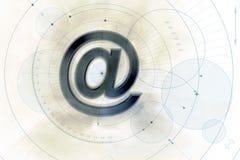 электронная почта предпосылки Стоковые Изображения RF