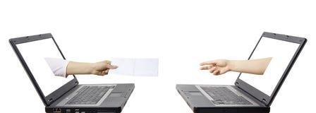 электронная почта принципиальной схемы связи Стоковое Изображение