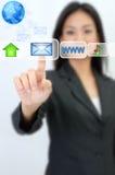 электронная почта принципиальной схемы стоковые изображения