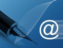 электронная почта принципиальной схемы Стоковая Фотография