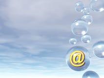 электронная почта пузыря Стоковые Фотографии RF