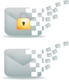 электронная почта связи обеспеченная Стоковое Фото