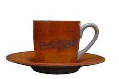 электронная почта чашки стоковое фото