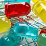 Электронная предпосылка Componants СИД светоизлучающего диода Стоковое Изображение