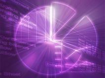 электронная таблица иллюстрации диаграмм дела Стоковое Изображение RF