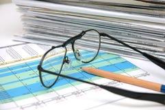 электронная таблица 3 Стоковое Изображение RF