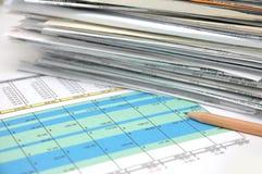 электронная таблица 4 Стоковая Фотография RF