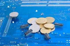 электронное перечисление денег интернета Стоковая Фотография RF
