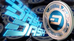Электронные деньги Cryptocurrency черточки Стоковые Изображения RF