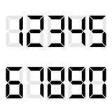 Электронные диаграммы черный Номер, количество, номер вопроса, экземпляр калькулятора Иллюстрация Vektor Стоковые Изображения RF