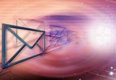 электронные почты виртуального пространства иллюстрация штока