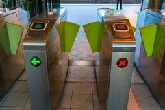 Электронные строб билета, машина утверждения или барьер билета Стоковое Изображение RF