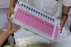 электронный голосовать машины стоковое фото rf
