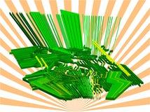 электронный мир вектора 3d Стоковая Фотография