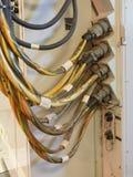 Электропитание для радиолокатора на старом военном корабле Стоковая Фотография