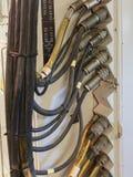 Электропитание для радиолокатора на старом военном корабле Стоковые Фото