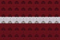 Электророзетки в белых и красных цветах стоковая фотография rf