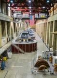 Электростанция запруды Hoover, подземные турбины с Америкой сигнализирует - Аризону, AZ Стоковое Фото