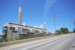Электростанция и хайвей стоковые фото