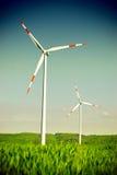 Электростанция турбины энергии ветра стоковые фотографии rf