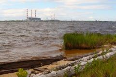Электростанция 'е Ñ ² Рл hermal в Сибире стоковые фотографии rf