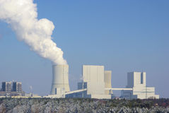 Электростанция Boxberg в зиме Стоковое фото RF