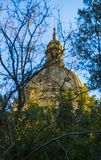 Элементы архитектуры национального парка Montjuic на площади Испании стоковое фото