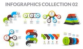 Элементы графика дела цикла Infographics бизнес-процесса с 3, 4, 5, 6, 7 и 8 кругами шага Аннотация бесплатная иллюстрация