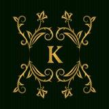 Элементы дизайна вензеля золота, грациозно шаблон Каллиграфическая элегантная линия логотип искусства Пометьте буквами идентичнос бесплатная иллюстрация
