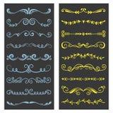 Элементы дизайна орнамента оформления книги рассекателя decoratice разделителя текста vector винтажная разделяя иллюстрация форм бесплатная иллюстрация