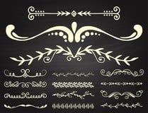 Элементы дизайна орнамента оформления книги рассекателя decoratice разделителя текста vector винтажная разделяя иллюстрация форм иллюстрация вектора