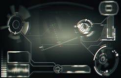 Элементы для интерфейса HUD Иллюстрация для вашего дизайна Предпосылка технологии : стоковое фото rf