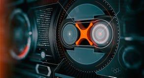 Элементы для интерфейса HUD Иллюстрация для вашего дизайна Предпосылка технологии : стоковая фотография
