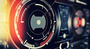 Элементы для интерфейса HUD Иллюстрация для вашего дизайна Предпосылка технологии : стоковое изображение
