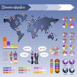Элементы для infography Стоковая Фотография