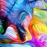 Элементы жидкостного цвета Стоковое фото RF
