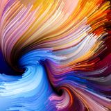 Элементы жидкостного цвета Стоковая Фотография