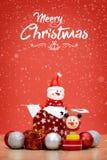 Элементы, игрушки и подарочные коробки украшения рождества Стоковые Изображения