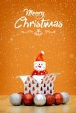 Элементы, игрушки и подарочные коробки украшения рождества Стоковая Фотография RF