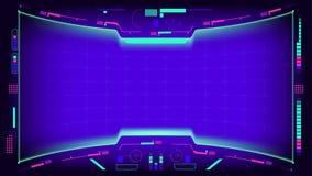 Элементы интерфейса дисплея Hud иллюстрация штока