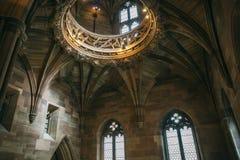 Элементы интерьера библиотеки Джона Rylands в Манчестере стоковое изображение