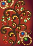 Элементы Индии, орнамент в векторе Стоковая Фотография RF