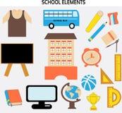 Элементы и объекты школы иллюстрация вектора